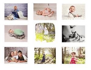 Samples of images created at PhotoBaby in April.